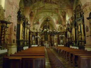 Wnętrze kościoła pw. Św. Stanisława